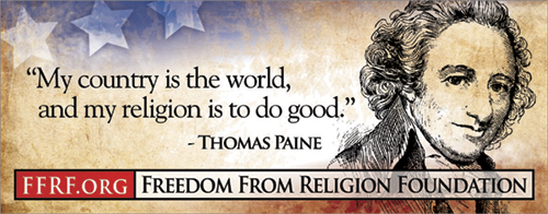 "[""My country is the world, and my religion is to do good."" - Thomas Paine]"